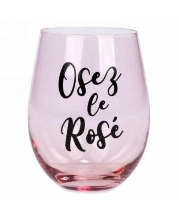 Verre à vin sans pied Osez le rosé