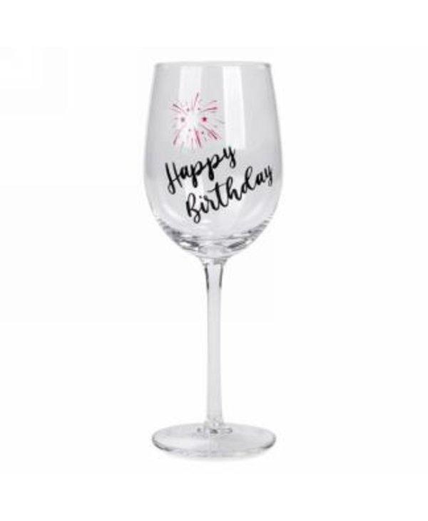 Verre à vin Happy Birthday