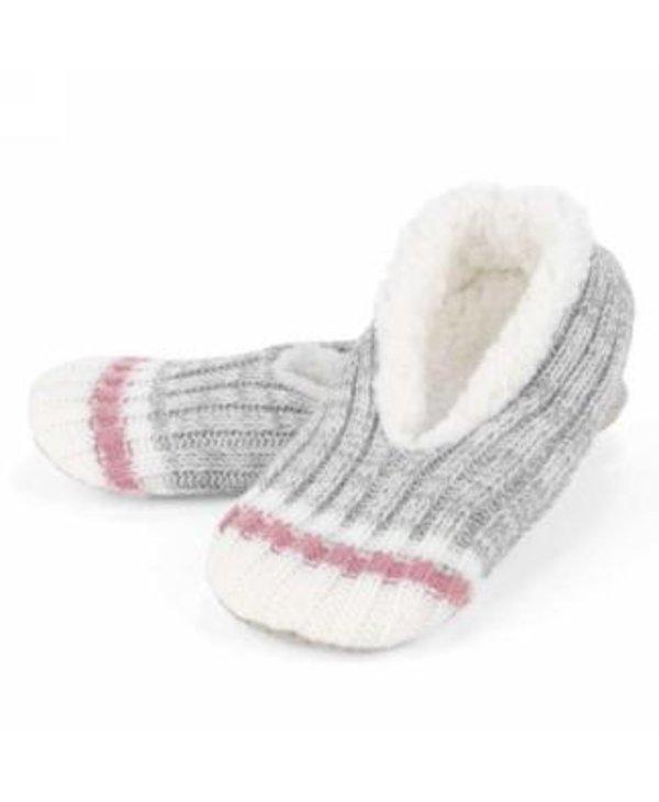 Paire de pantoufle en tricot gris, small medium