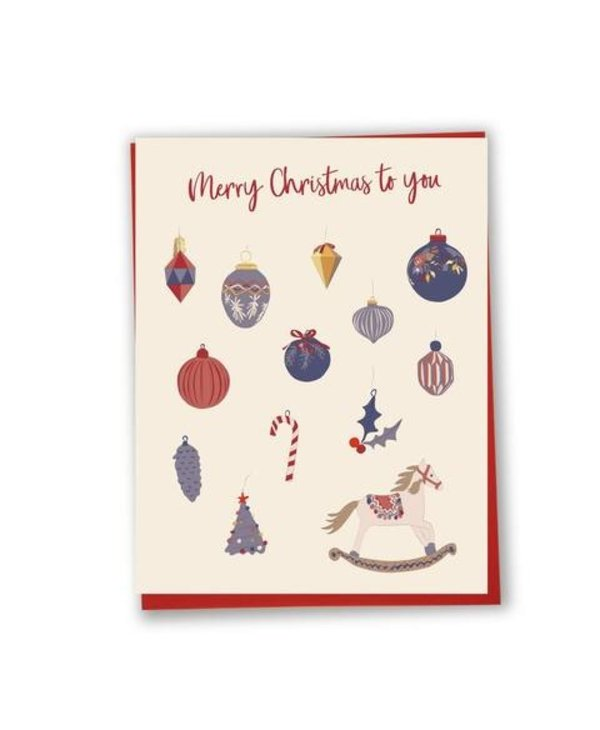 Carte de souhaits Merry Christmas to you- decorations