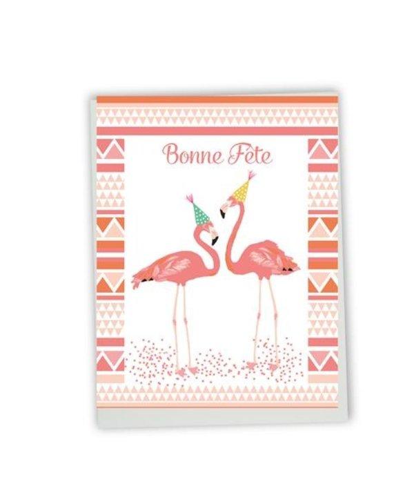 Carte de souhaits Bonne Fête- flamant