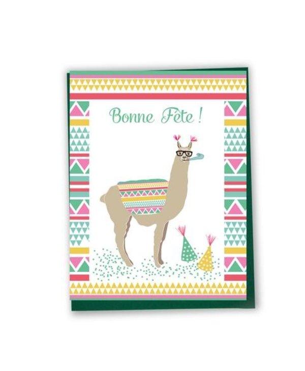 Carte de souhaits Bonne Fête- lama