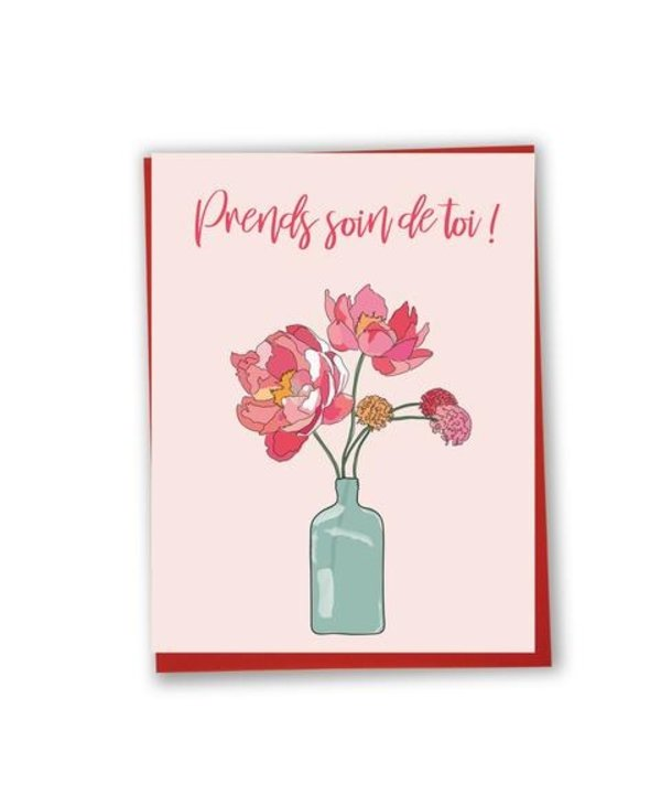 Carte de souhaits Prends soin de toi!