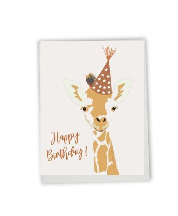 Carte de souhaits Happy birthday- girafe
