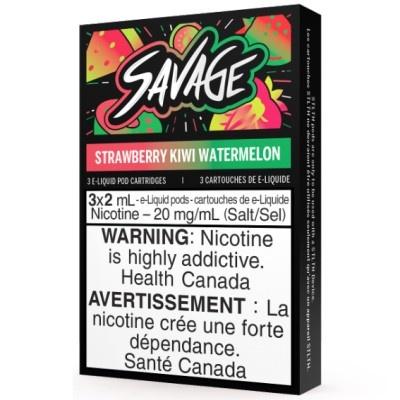 STLTH STLTH Savage Strawberry Kiwi Watermelon Pods (Pack of 3)