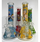 "Pollen Extractors PE 14"" Rick and Morty Honeycomb Wrap Beaker"