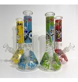 "Pollen Extractors PE 11"" Rick and Morty Honeycomb Wrap Beaker"