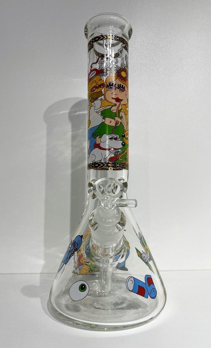 """Pollen Extractors PE 14"""" Cartoon Character Beaker"""