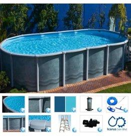 Classic Pools Aquarius Salt Water Oval Braceless 9.1 m x 4.6 m x 1.37 m