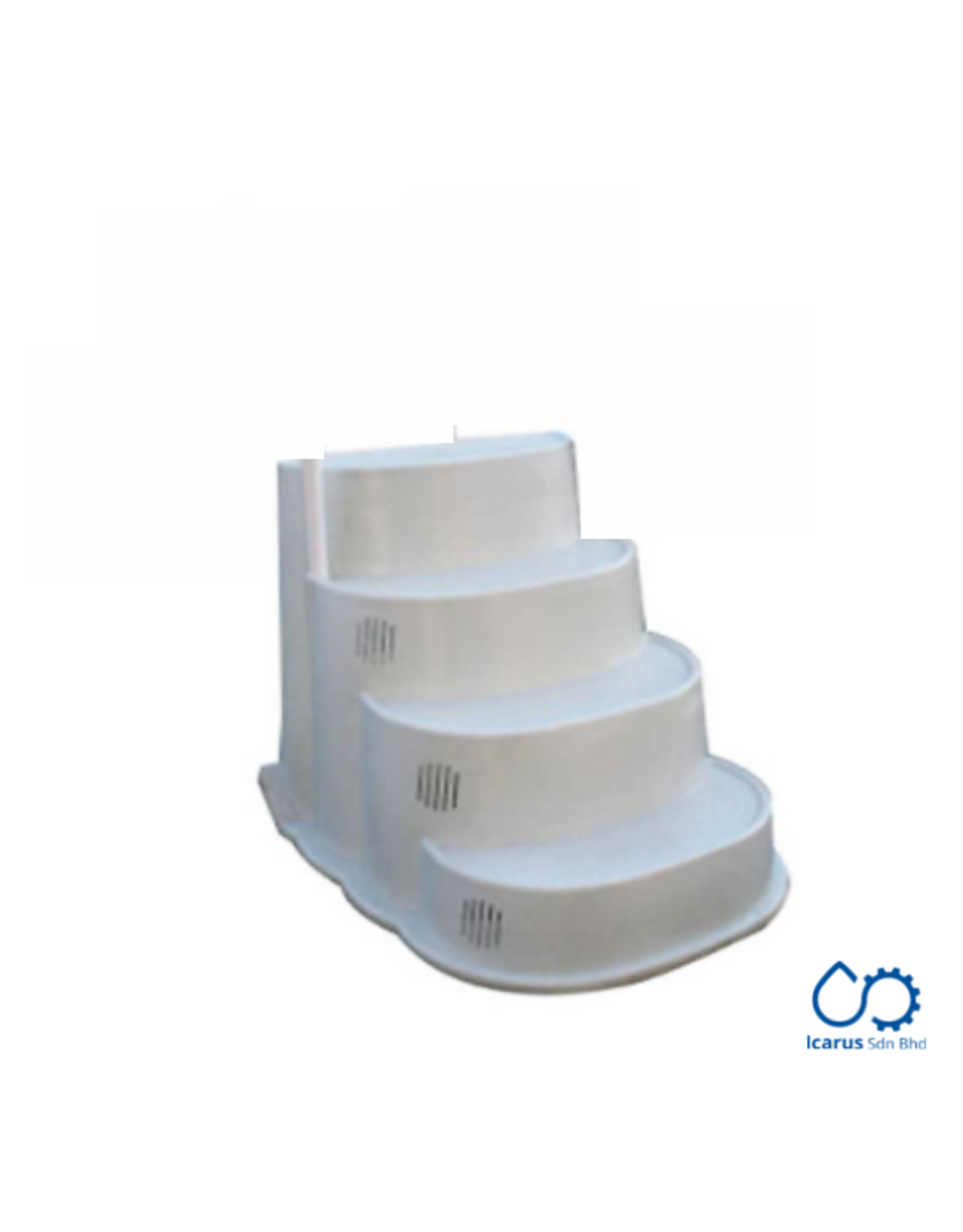 Classic Pools Stern's Slimline Cake Step, White, Dimensions approx. 1.1x0.90x1.2m (WxHxD); without Handrails