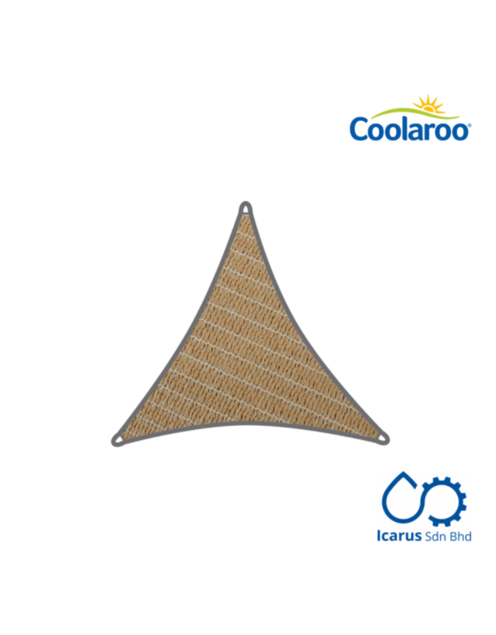 Coolaroo Commercial Grade Shade Sail Triangle 6.5m, Color Beech