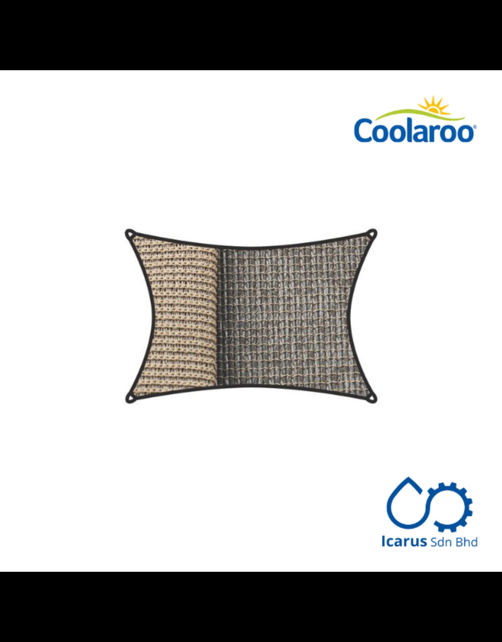 Coolaroo Commercial Grade Dualshade Sail Rectangular 5x3m, Color Cobblestone