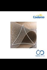Coolaroo Commercial Grade Dualshade Sail Triangle 5m, Color Cobblestone
