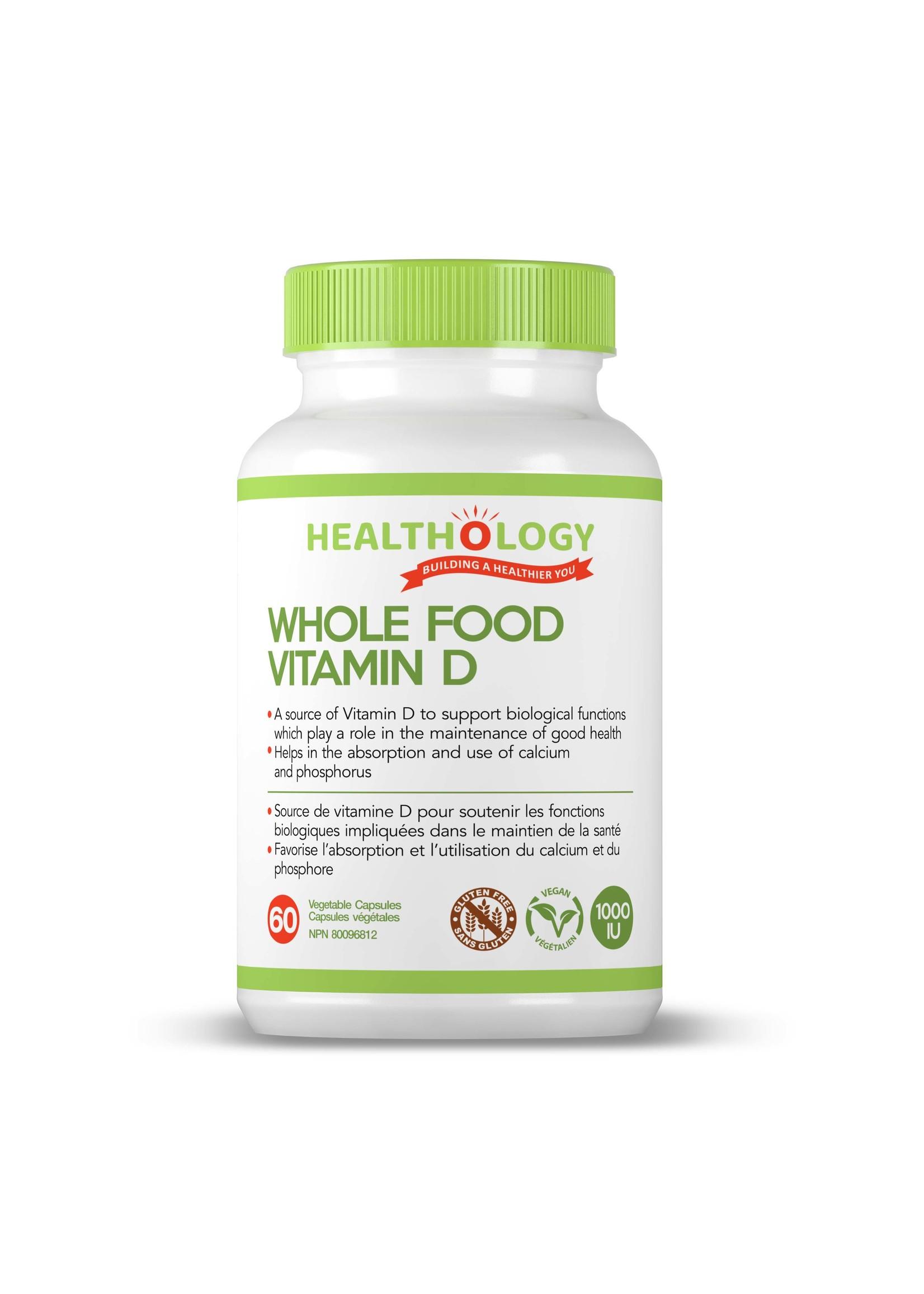 Healthology Healthology WHOLE FOOD VEGAN VITAMIN D 1000IU 60 Capsules
