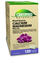 Certified Naturals Certified Naturals Cal-Mag plus K2 120 Veg Caps