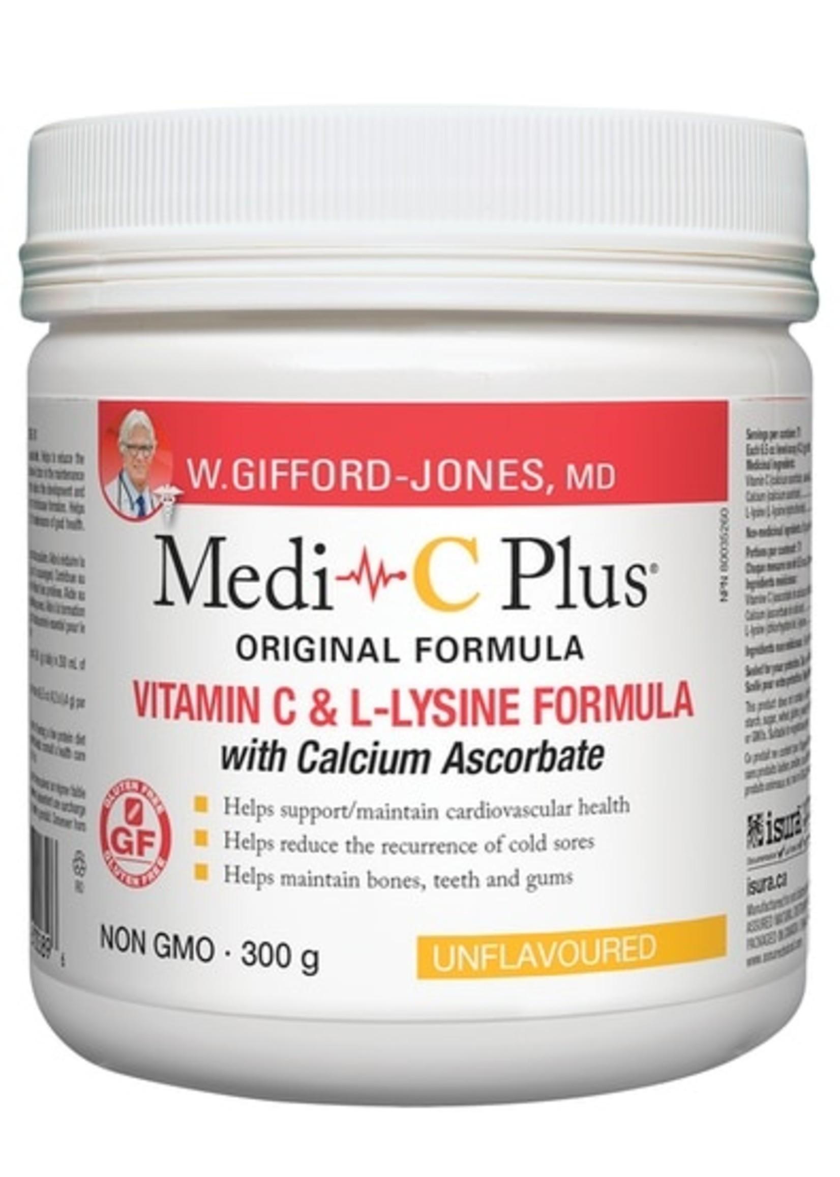 Gifford-Jones Medi~C Plus Unflavoured w/ Calcium Pwd 300g