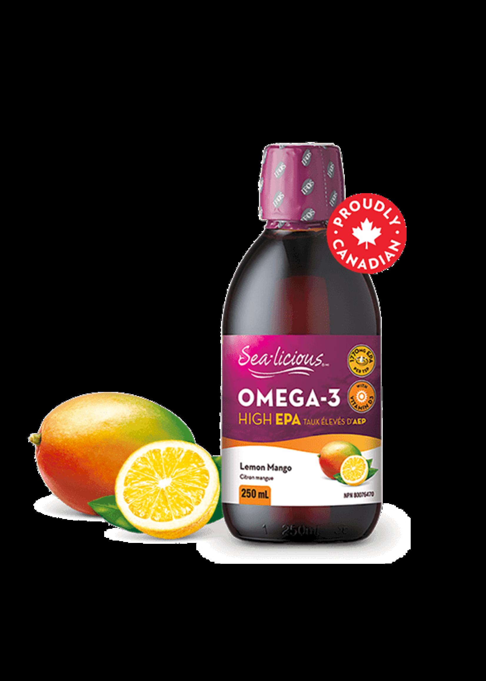 Sea-licious Sea-licious High EPA Lemon/Mango 250ml