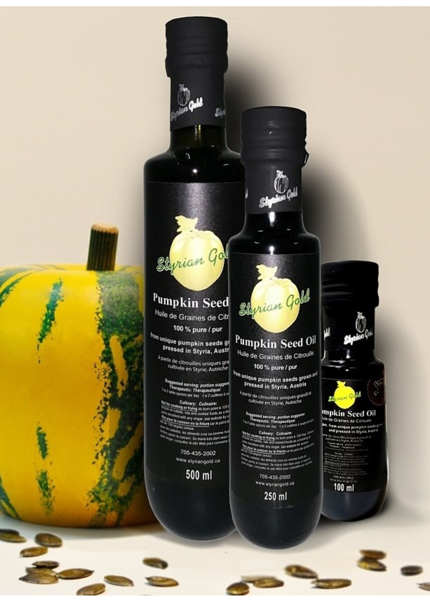 Styrian Gold Styrian Gold Glass Bottle - P.G.I. Pumpkin Seed Oil 500ml