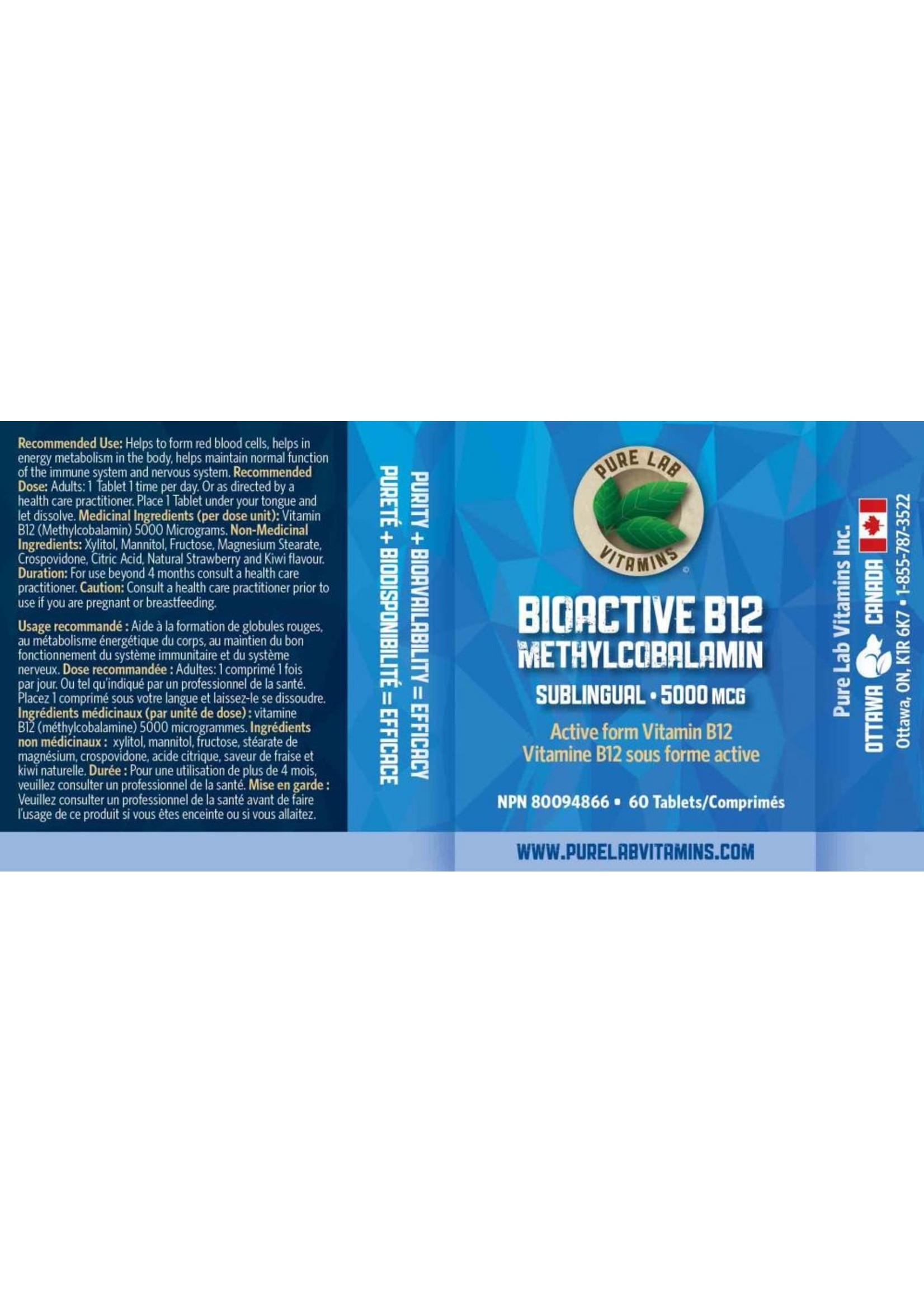 Pure lab Pure Lab Bioactive B12 5000mcg Sublingual