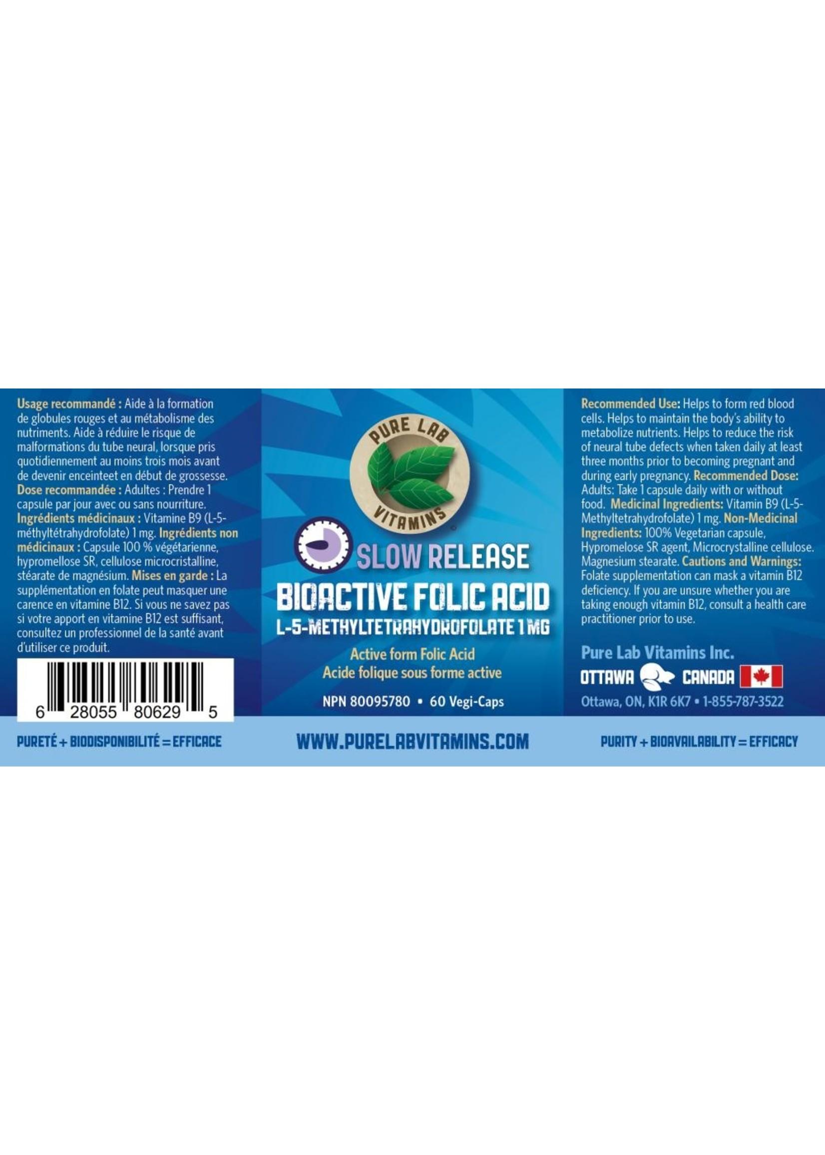 Pure lab Pure Lab Bioactive Folic Acid 1mg Slow Release