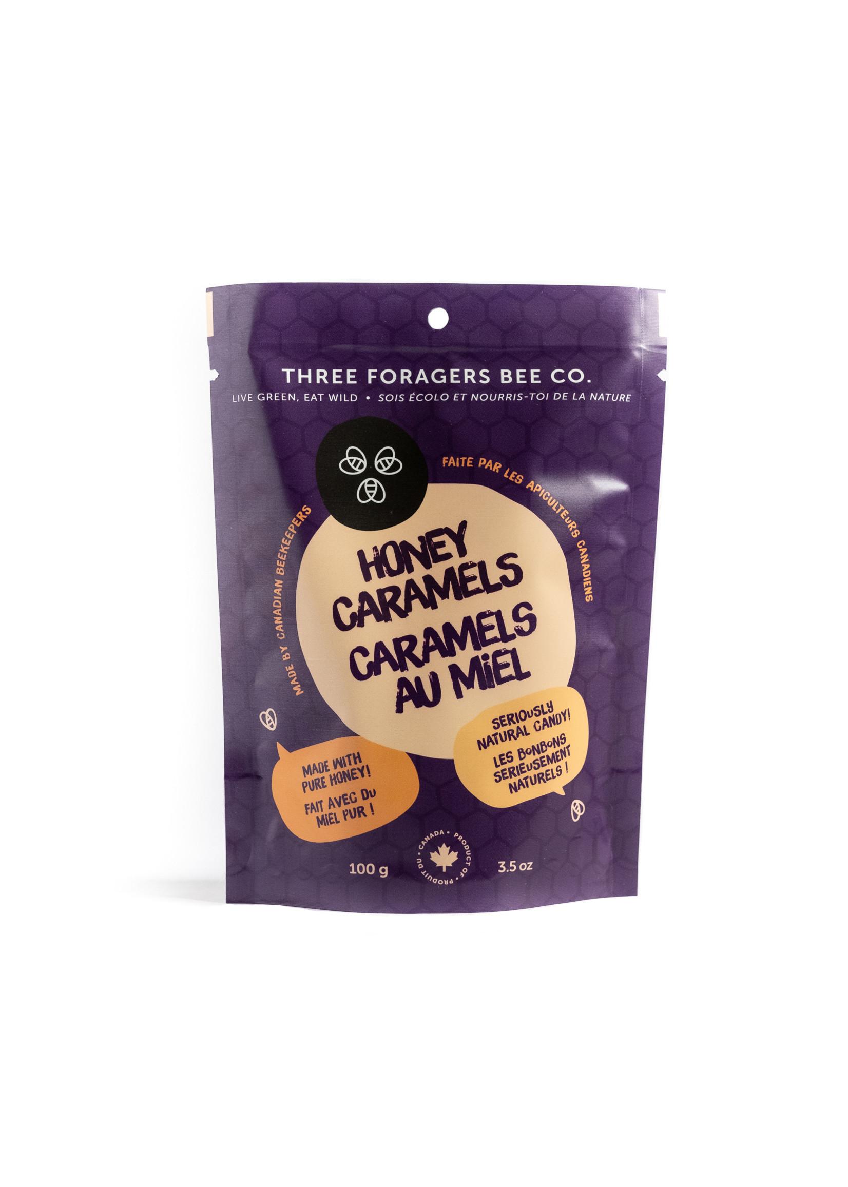 Three Foragers Honey Caramels Original 100g
