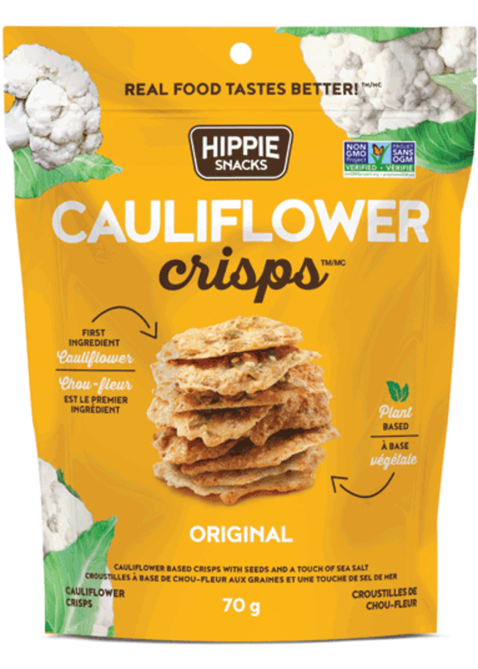 Hippie Snacks Cauliflower Crisps SEA SALTORIGINAL