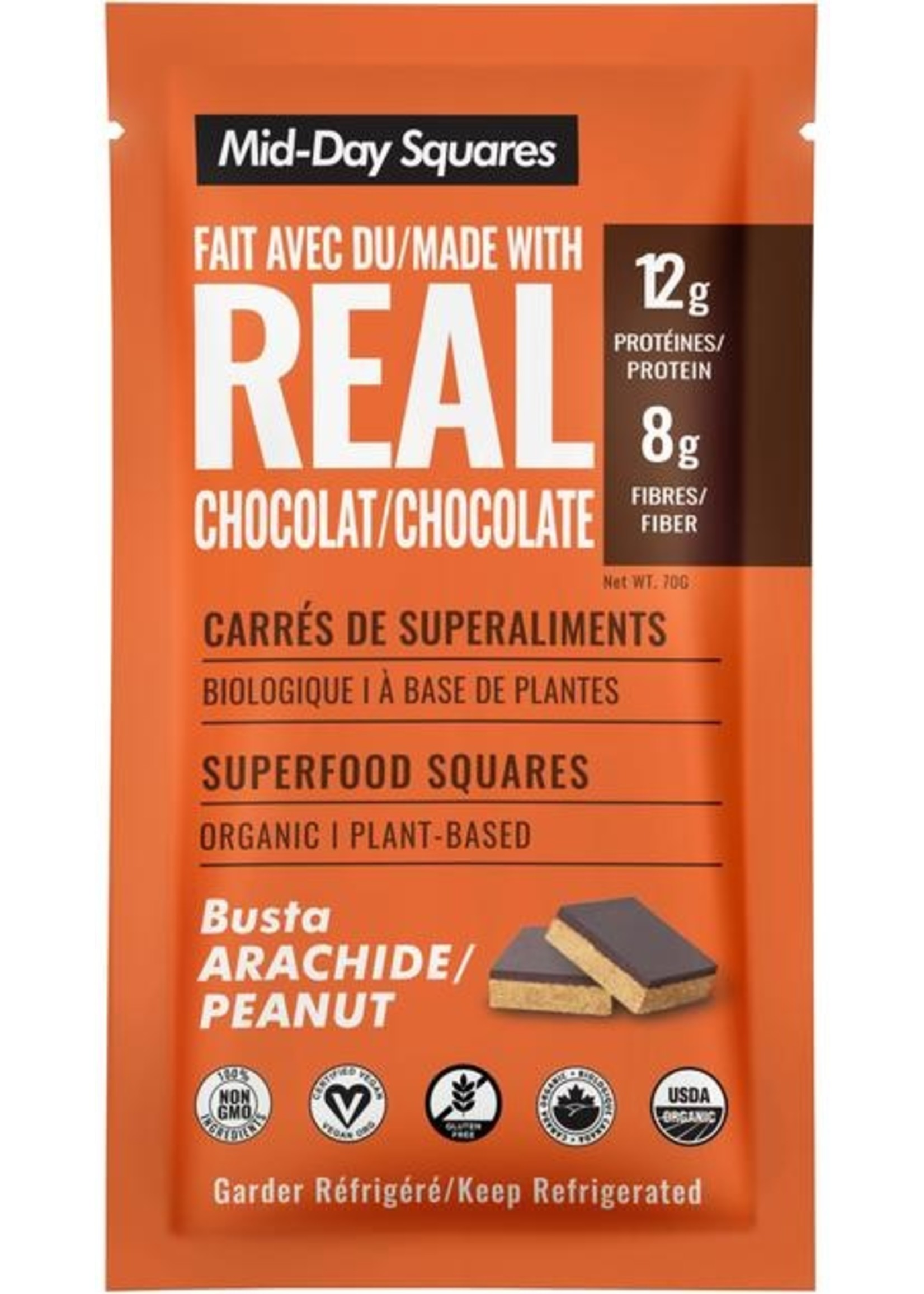Mid-day Squares Raw Superfoods Mid-day Squares Raw Superfoods  Busta Peanut Squares - raw, gluten free, vegan