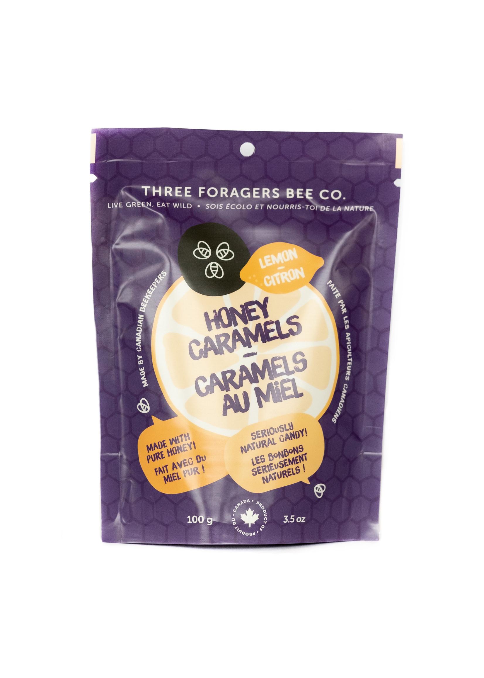 Three Foragers Honey Caramels Lemon 100g