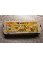 Bekings Large Brown Certified Organic Eggs