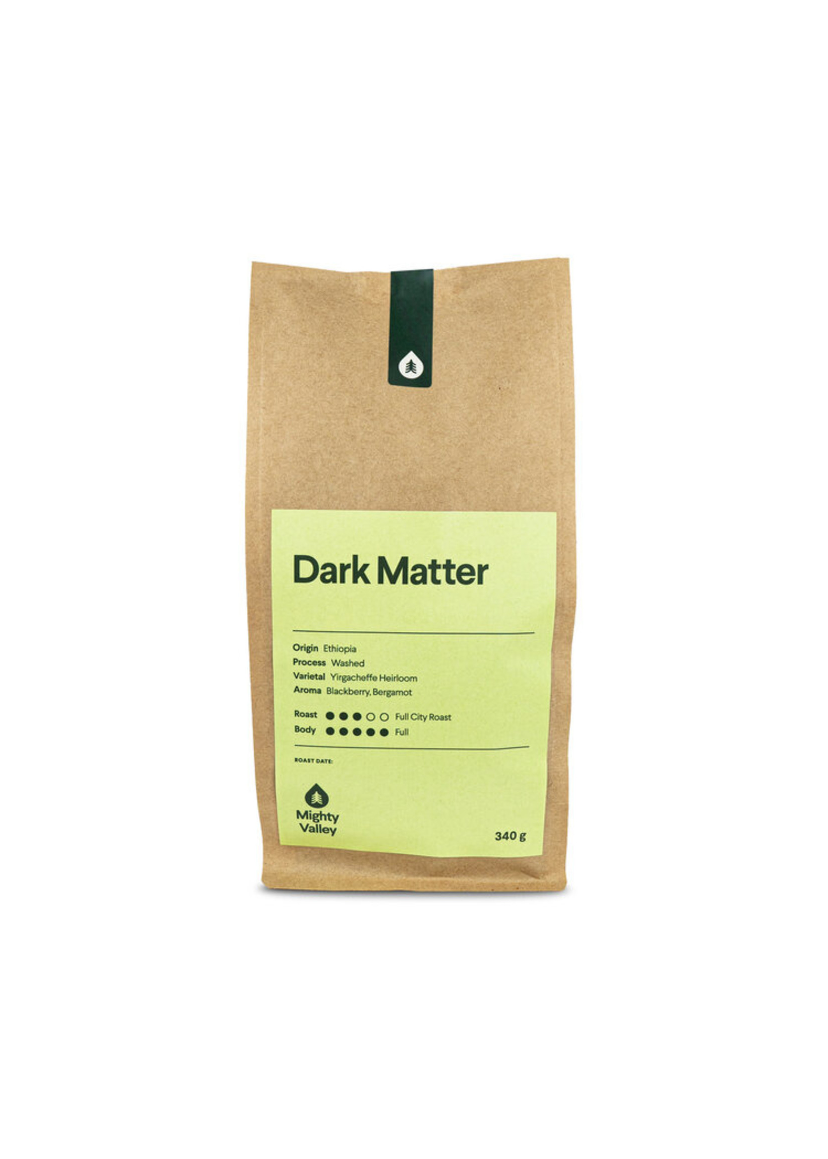 Mighty Valley Mighty Valley Whole Bean Coffee - Dark Matter 340 gram