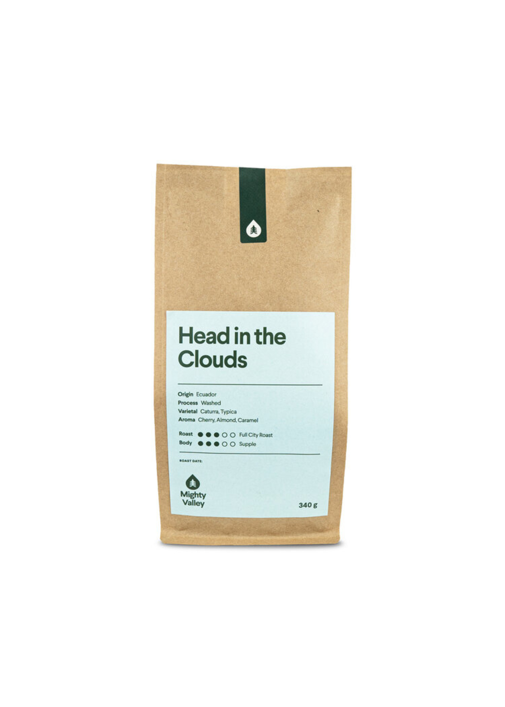 Mighty Valley Mighty Valley Whole Bean Coffee - Head in the Clouds Blend 340g