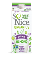 So Nice Organic Almond Milk Unsweetened