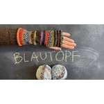 Easy Striped Mitts Kit, Blautopf