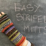 Easy Striped Mitts