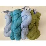 Mod Baby Afghan Kit #3 (Vintage Wool)
