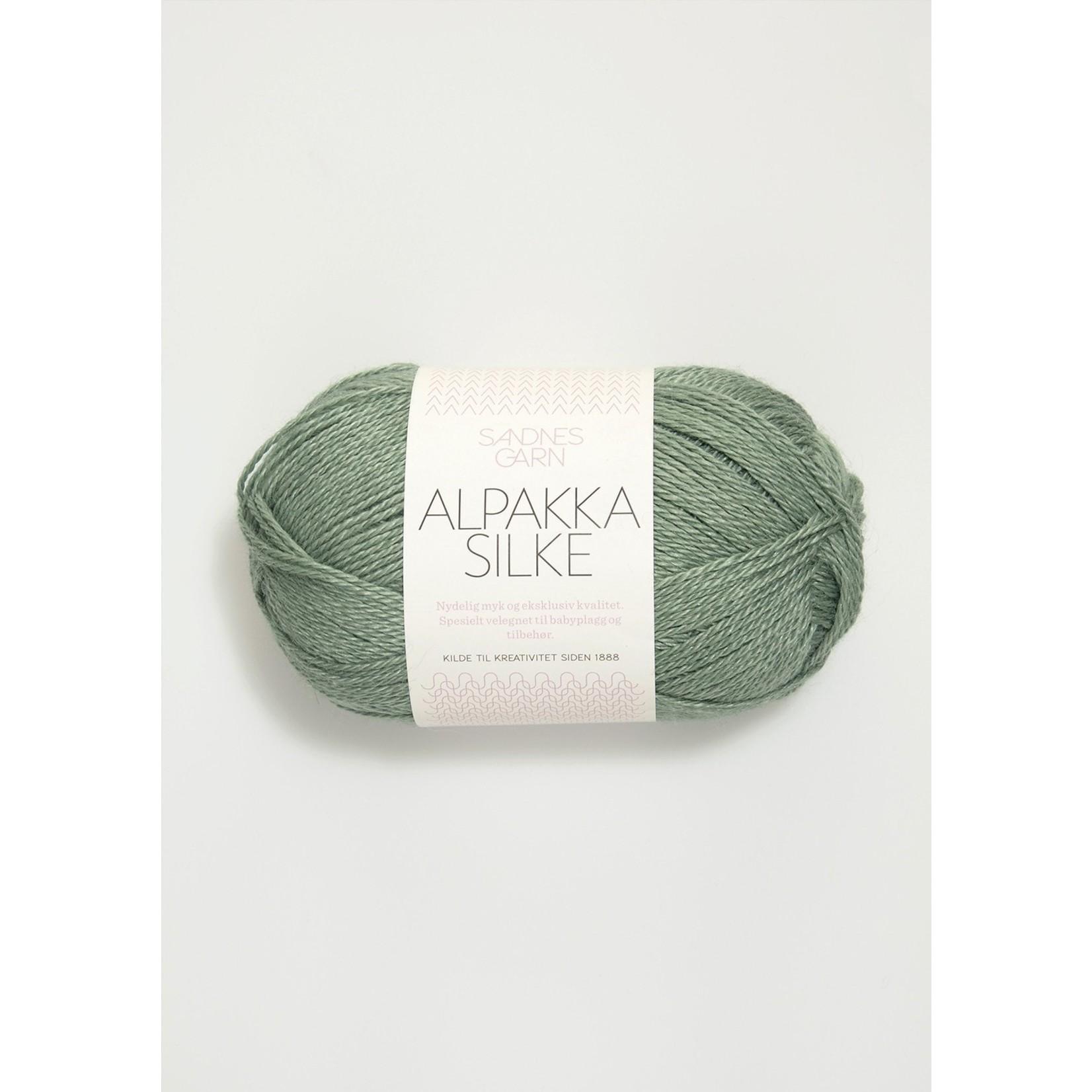 Sandnes Garn Alpakka Silke, 7741, Dusty Green