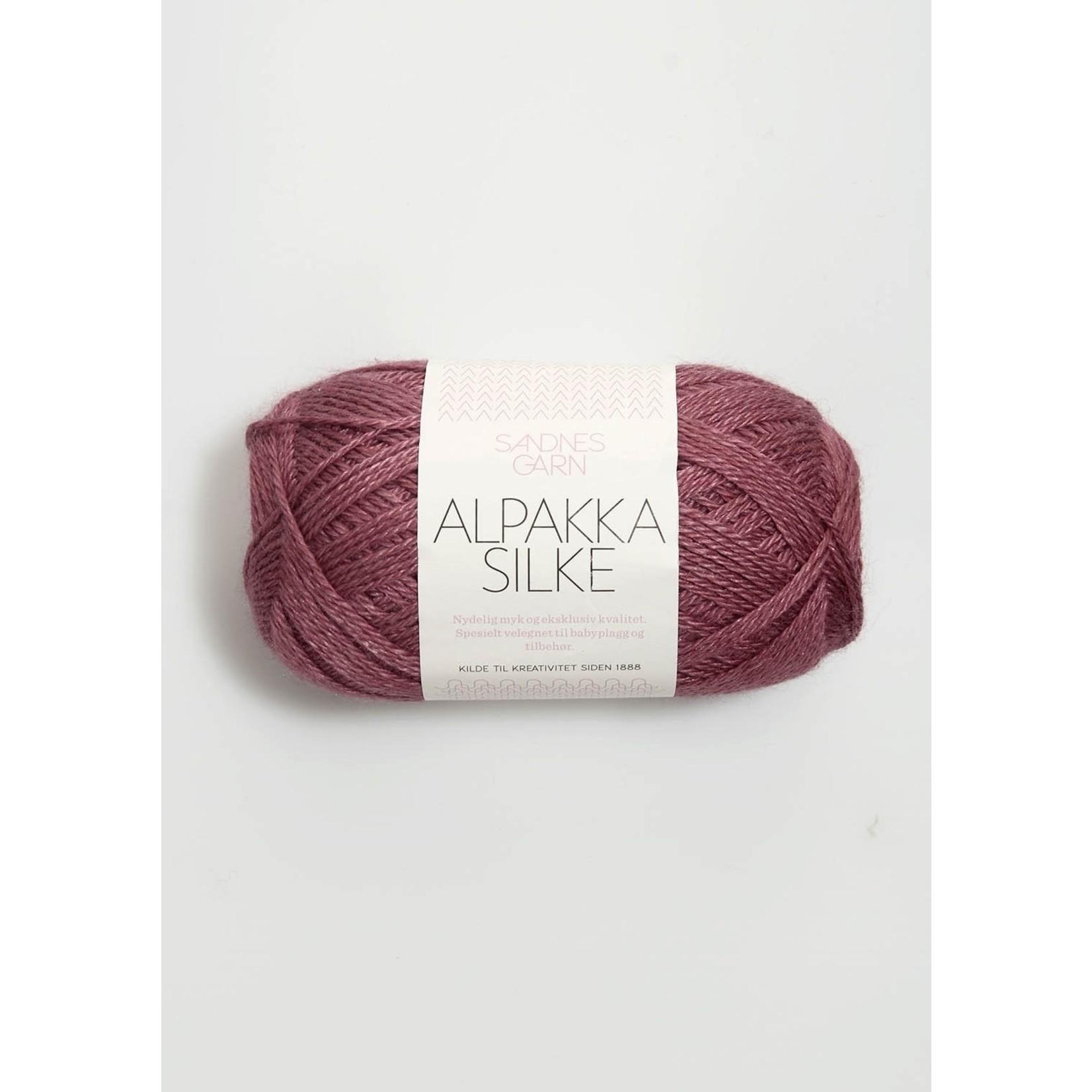 Sandnes Garn Alpakka Silke, 4244, Dark Old Pink
