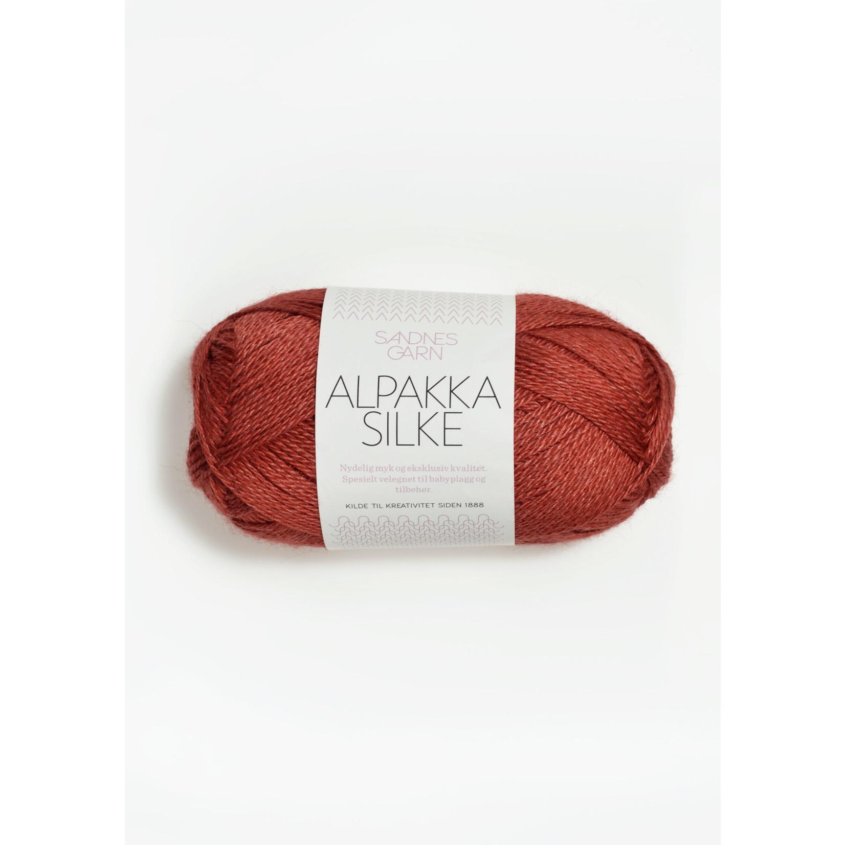 Sandnes Garn Alpakka Silke, 4035, Dark Terracotta