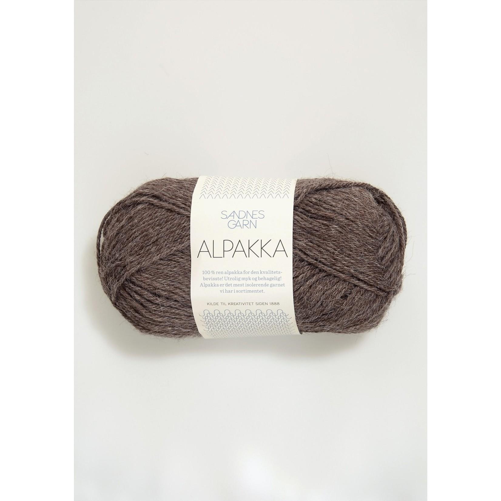 Sandnes Garn Alpakka, 2652, Med Brown Heather