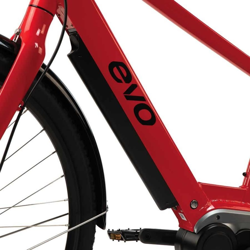 EVO Kallio Electric Bicycle, 700C, Sunset Red, S/M