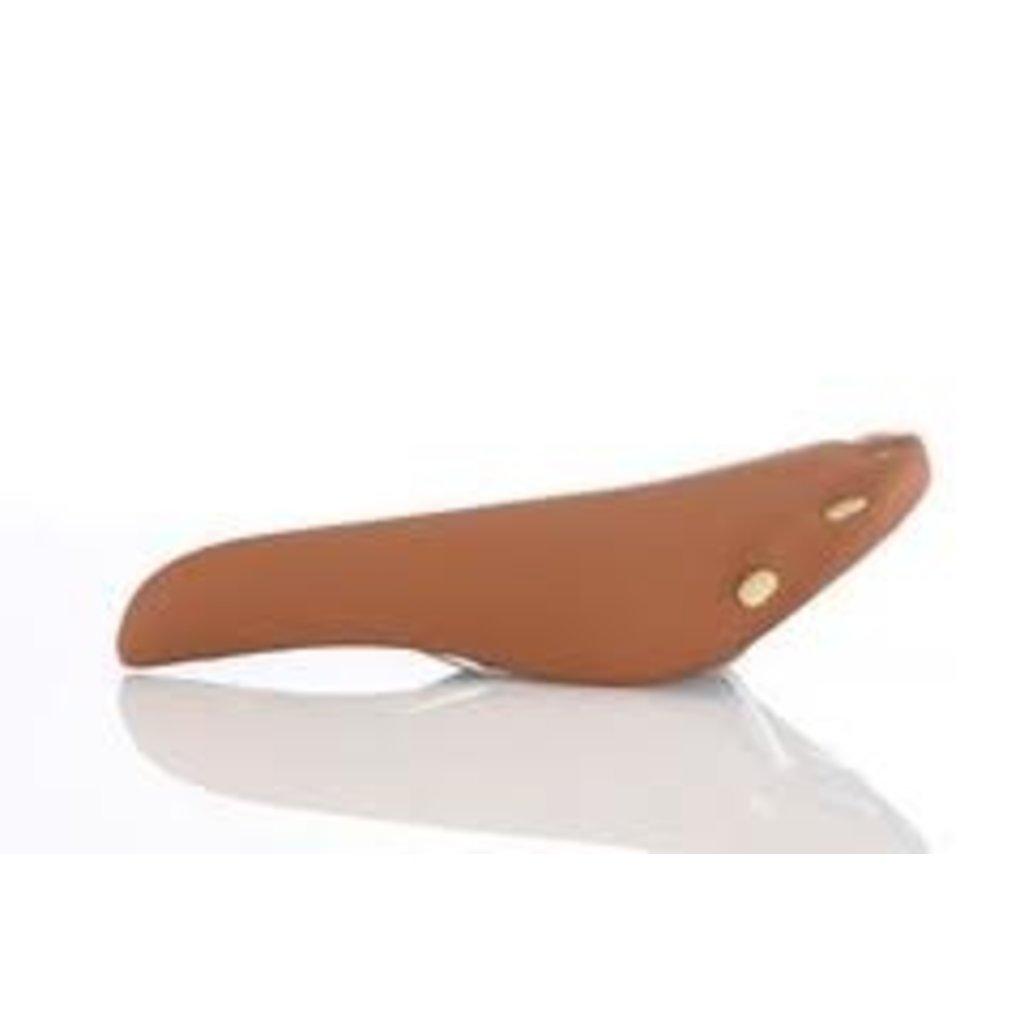 Bike Attitude Vinyl Saddle with copper rivets - Brown