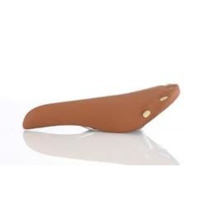 Brown Saddle Vinyl with copper rivets