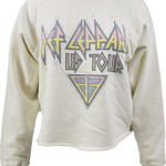 Retro Brand Def Leppard Crop Sweatshirt
