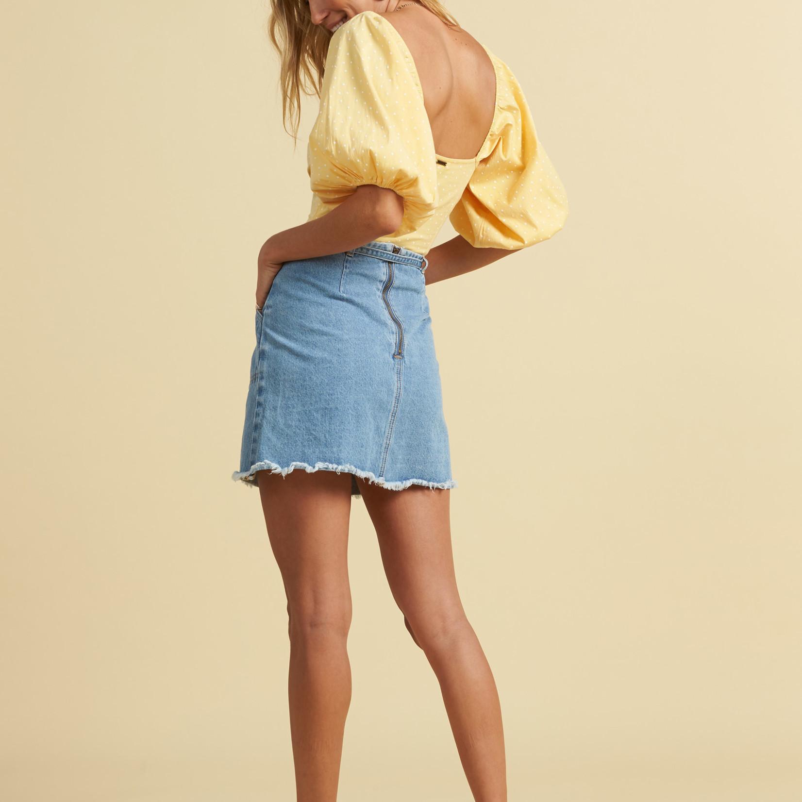 Billabong Billabong x Salty Blonde Tied Up Denim Skirt