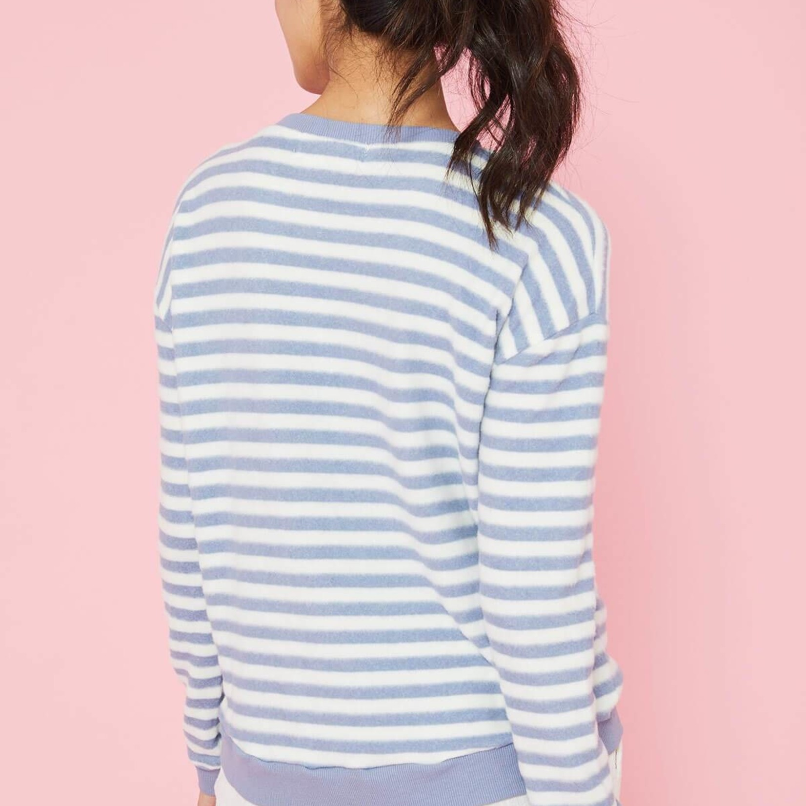 Flying Point Striped Hacci Crewneck