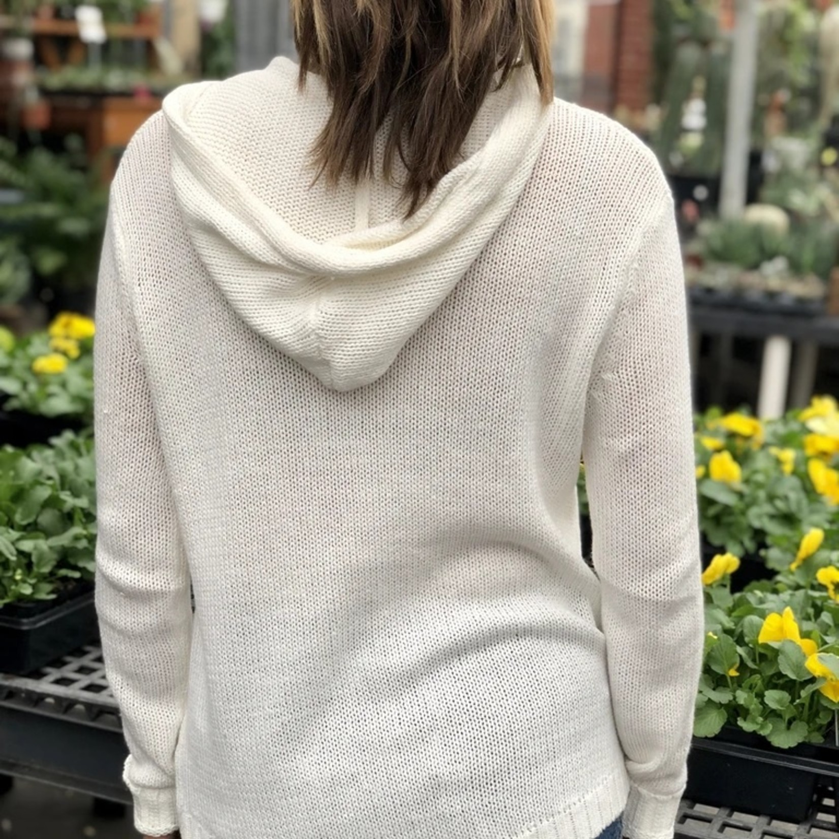 Flying Point Chunky Cord Knit Hoodie