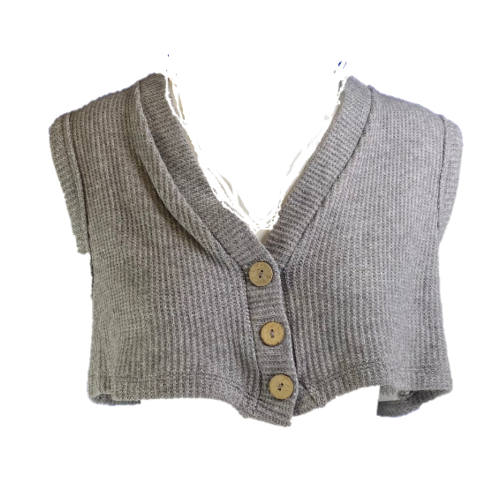 Flying Point Waffle Vest Crop Top