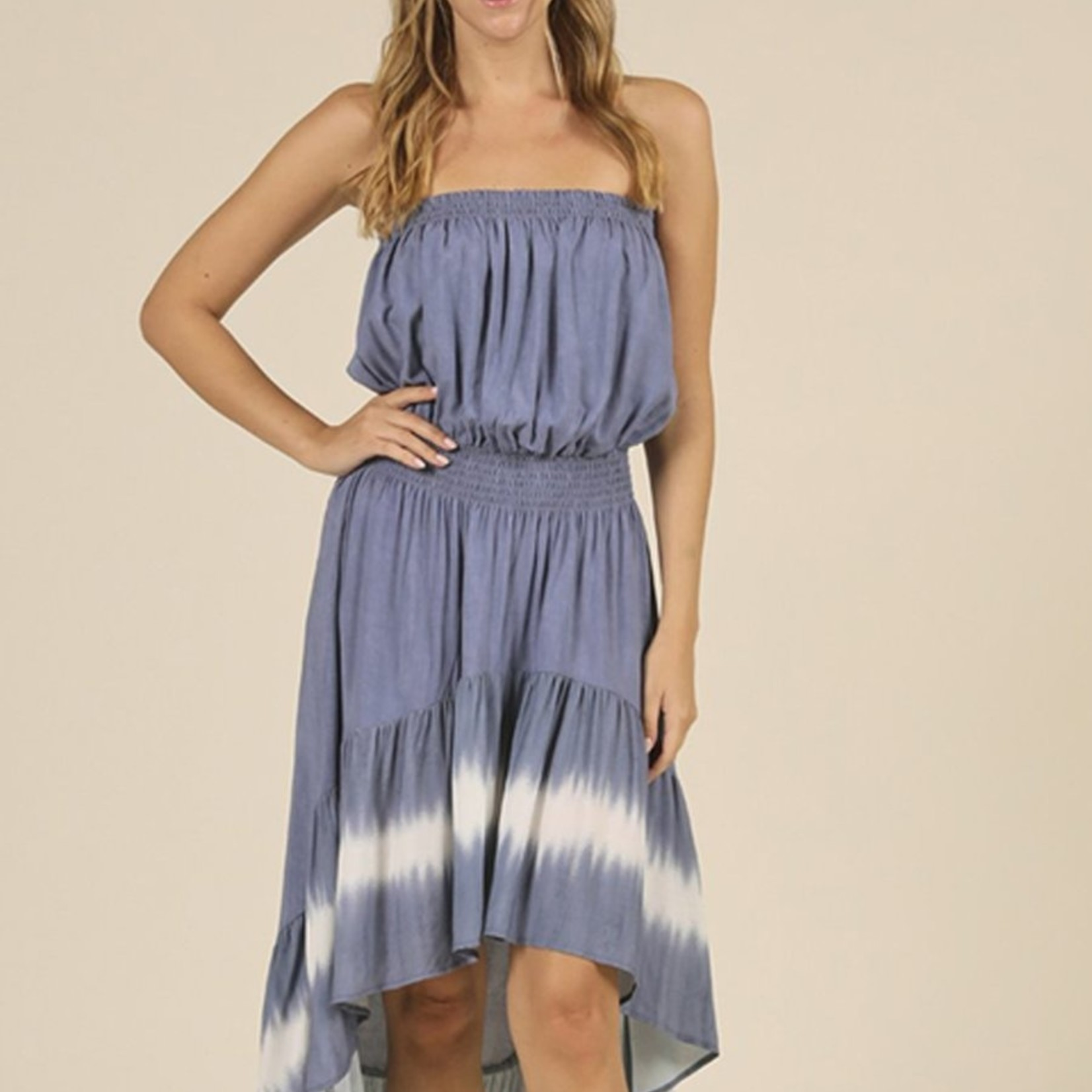 Flying Point High Low Strapless Dress