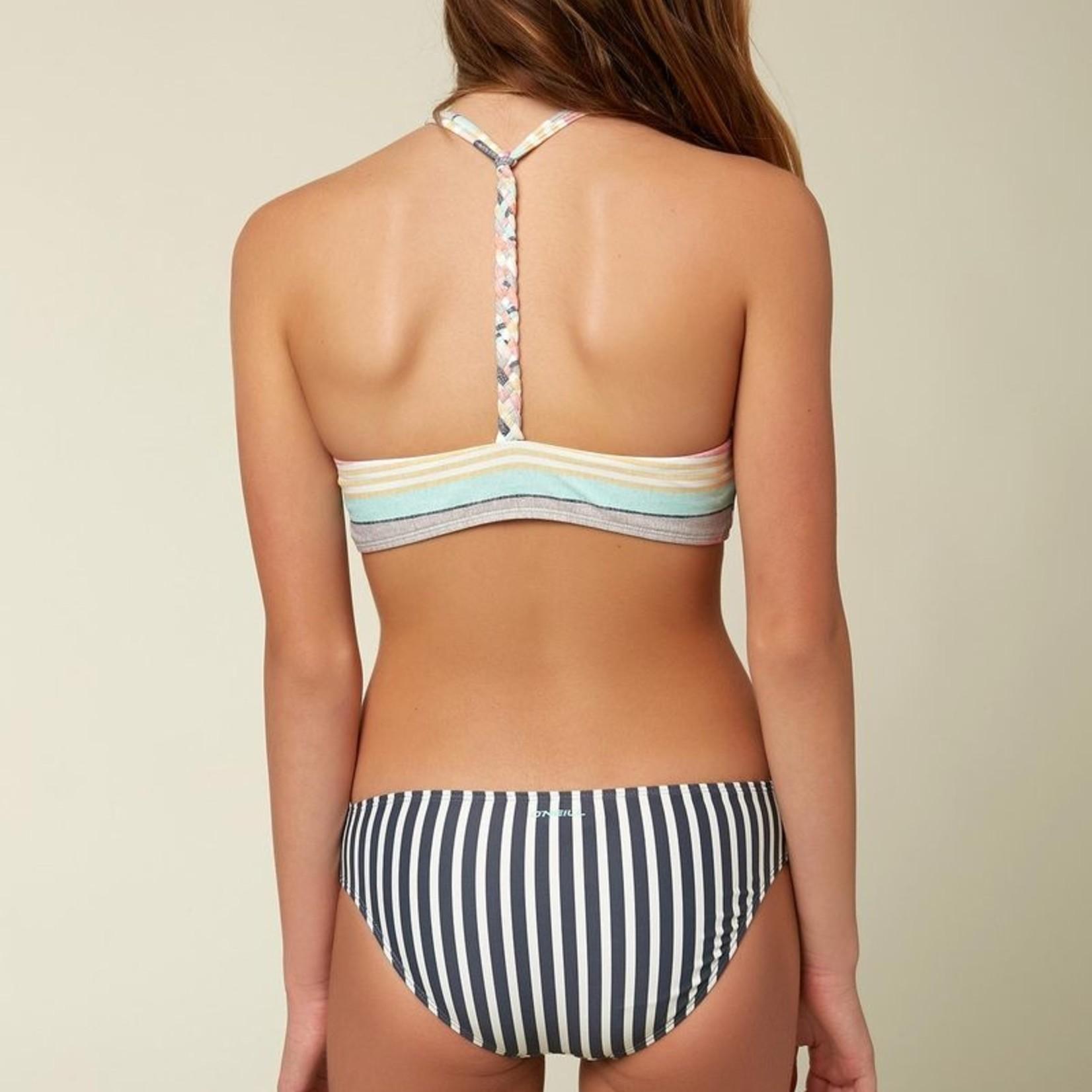 O'Neill O'Neill Girls Cruz Stripe Braided Hi-Neck Set
