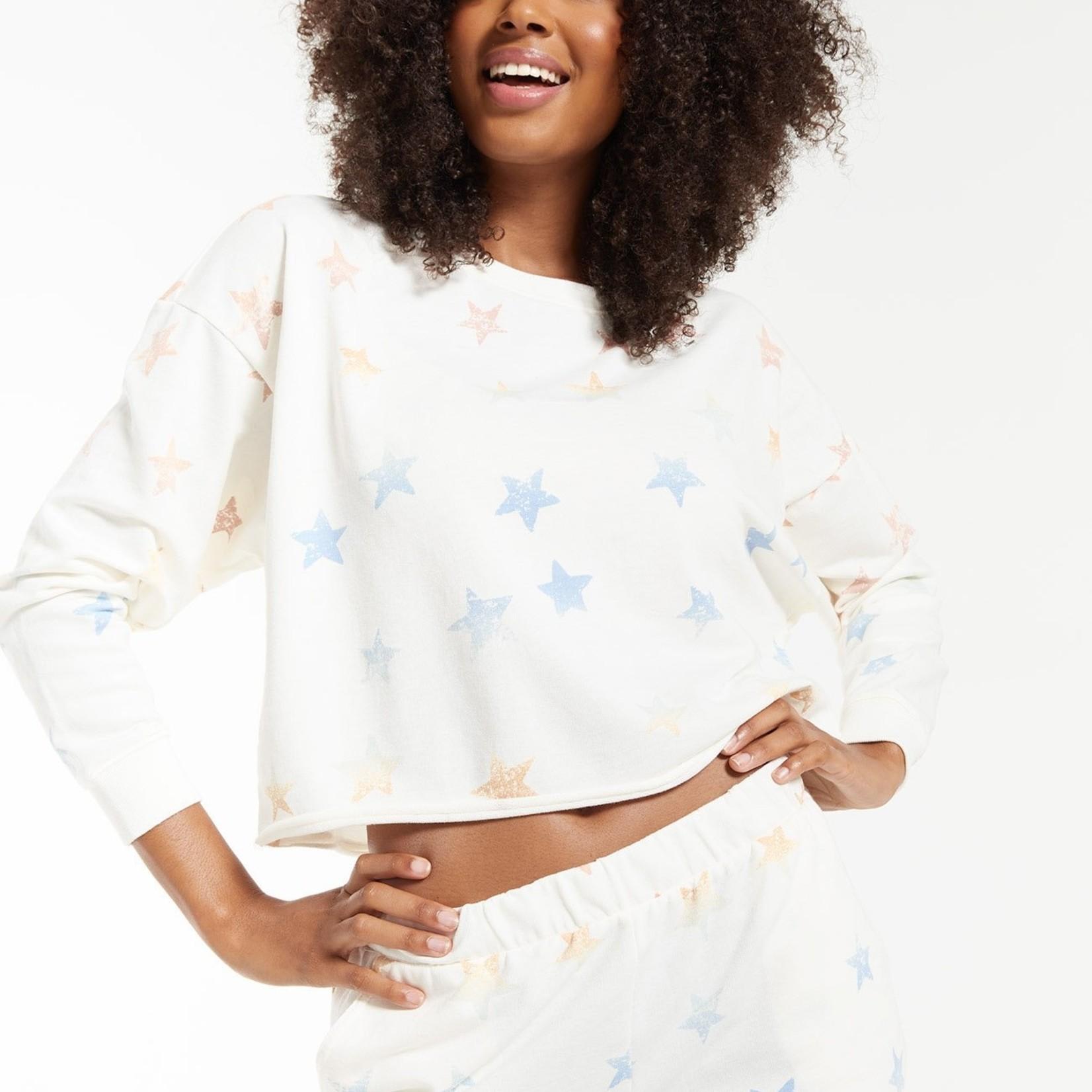 Z Supply Z Supply Lia Rainbow Star Sweatshirt